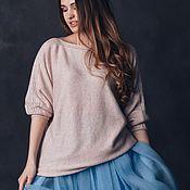 """Одежда ручной работы. Ярмарка Мастеров - ручная работа Туника вязаная """"Розовая жемчужина"""". Вязаная туника свободная свитер. Handmade."""