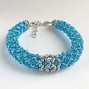 Украшения handmade. Livemaster - original item Blue beaded bracelet