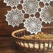 Для дома и интерьера ручной работы. Ярмарка Мастеров - ручная работа Салфета круглая из мотивов. Handmade.