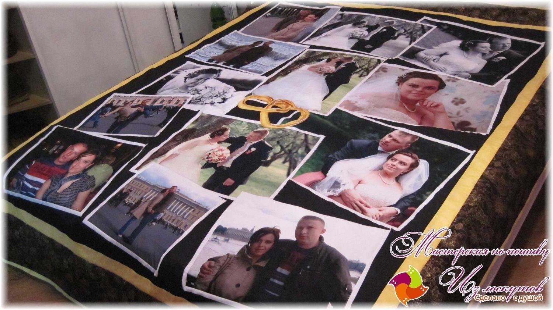 """Лоскутное покрывало с фотографиями """"Ситцевая свадьба"""" № 169, Подарки, Москва,  Фото №1"""