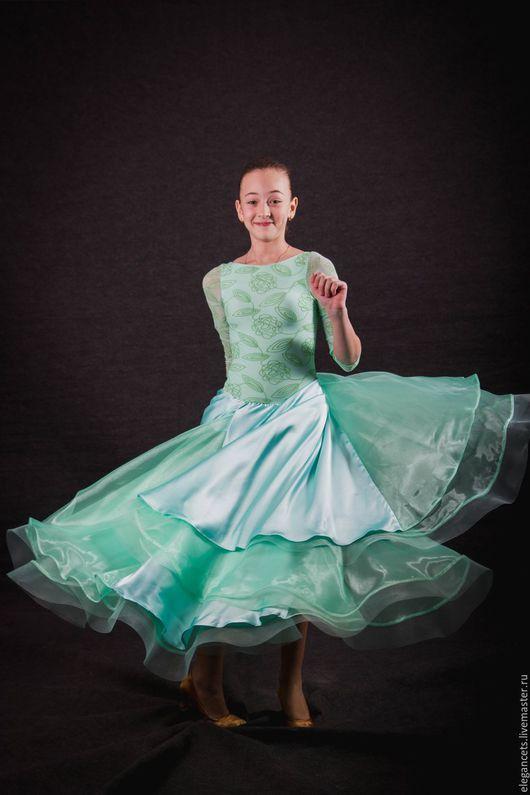 """Танцевальные костюмы ручной работы. Ярмарка Мастеров - ручная работа. Купить Платье для бальных танцев (стандарт) """"Youth Love"""". Handmade."""