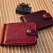 Сумки и аксессуары handmade. Livemaster - original item Cardholders in leather for cards, money clip.. Handmade.