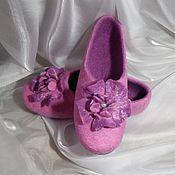Обувь ручной работы. Ярмарка Мастеров - ручная работа Mirabel. Валяные тапочки.. Handmade.