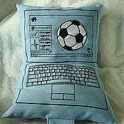 Для дома и интерьера ручной работы. Ярмарка Мастеров - ручная работа Подушка-ноутбук. Handmade.