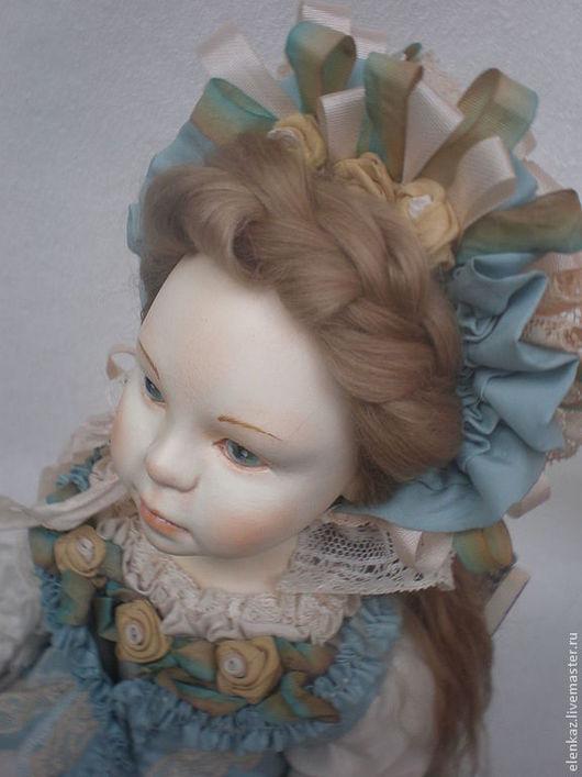 Коллекционные куклы ручной работы. Ярмарка Мастеров - ручная работа. Купить АННАБЕЛЬ ( продана ). Handmade. Голубой, лён