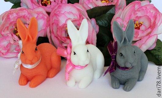 """Мыло ручной работы. Ярмарка Мастеров - ручная работа. Купить Мыло ручной работы """"Кролик"""".. Handmade. Разноцветный, кролик, Пасха"""