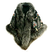 Аксессуары handmade. Livemaster - original item Shawl with silver Fox. Handmade.