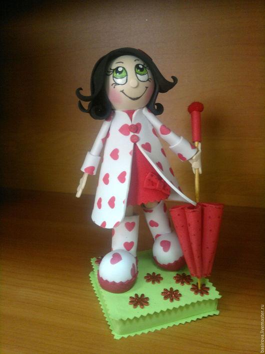 Человечки ручной работы. Ярмарка Мастеров - ручная работа. Купить Куклы из фоамирана Девочки с зонтиками. Handmade. Кукла ручной работы