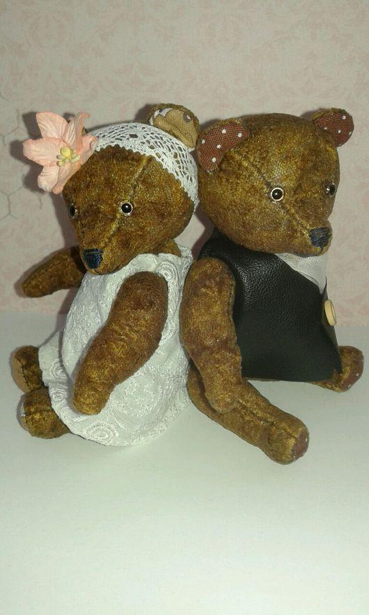 """Мишки Тедди ручной работы. Ярмарка Мастеров - ручная работа. Купить """"Макс и Лили"""" мишки.. Handmade. Мишка тедди"""
