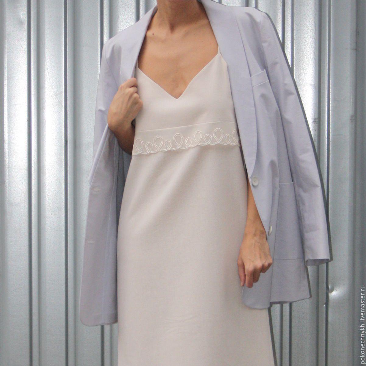 Платье-комбинация из льна #DELICACY, Сарафаны, Москва,  Фото №1