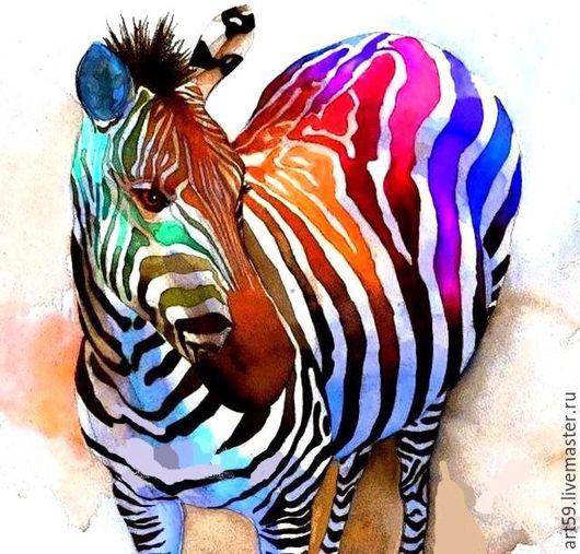 Животные ручной работы. Ярмарка Мастеров - ручная работа. Купить Зебра. Handmade. Разноцветный, радужная, стильное украшение, стильный подарок