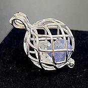 Украшения handmade. Livemaster - original item Synergy pendant-Fenakite, Tanzanite, Herkimer diamond, silver. Handmade.