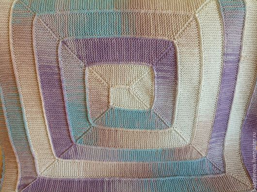 """Текстиль, ковры ручной работы. Ярмарка Мастеров - ручная работа. Купить Плед детский """"Переливы цвета"""".  Детский плед спицами. Handmade."""