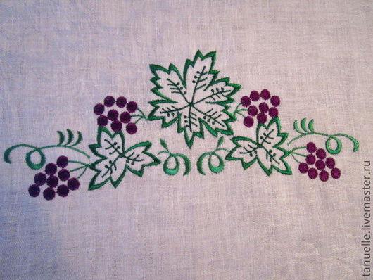 """Текстиль, ковры ручной работы. Ярмарка Мастеров - ручная работа. Купить Скатерть """"Гроздь винограда"""". Handmade. Лен, салфетки льняные"""
