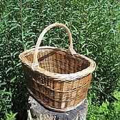 Для дома и интерьера ручной работы. Ярмарка Мастеров - ручная работа Самая удобная Грибная корзина плетеная. Handmade.