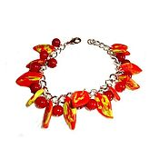 Украшения handmade. Livemaster - original item Berries and leaves. Bright colors of autumn. bracelet.. Handmade.