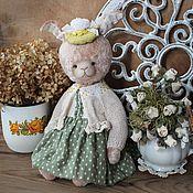 Куклы и игрушки ручной работы. Ярмарка Мастеров - ручная работа Зайка тедди Кирочка. Handmade.