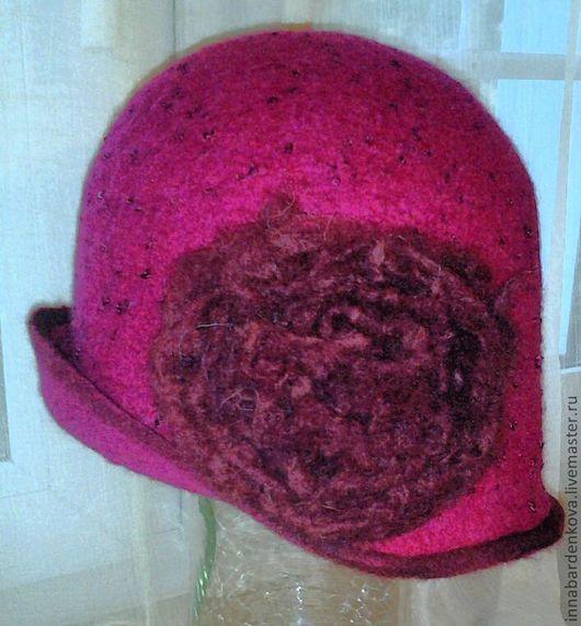 Шляпы ручной работы. Ярмарка Мастеров - ручная работа. Купить шляпка Пион. Handmade. Бордовый, шляпка, шляпка с цветами, Валяние