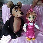 Куклы и игрушки handmade. Livemaster - original item Masha and the bear. Tablet theater dolls.. Handmade.