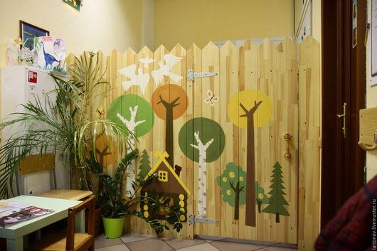 Детская ручной работы. Ярмарка Мастеров - ручная работа. Купить перегородка - забор деревянный. Handmade. Желтый, забор, ширма