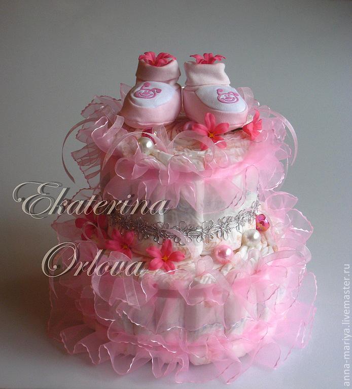 Торт из памперсов своими руками пошагово фото для девочек 21