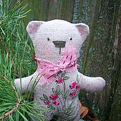Куклы и игрушки handmade. Livemaster - original item Flax bear Forest lingonberry.Painting. Handmade.