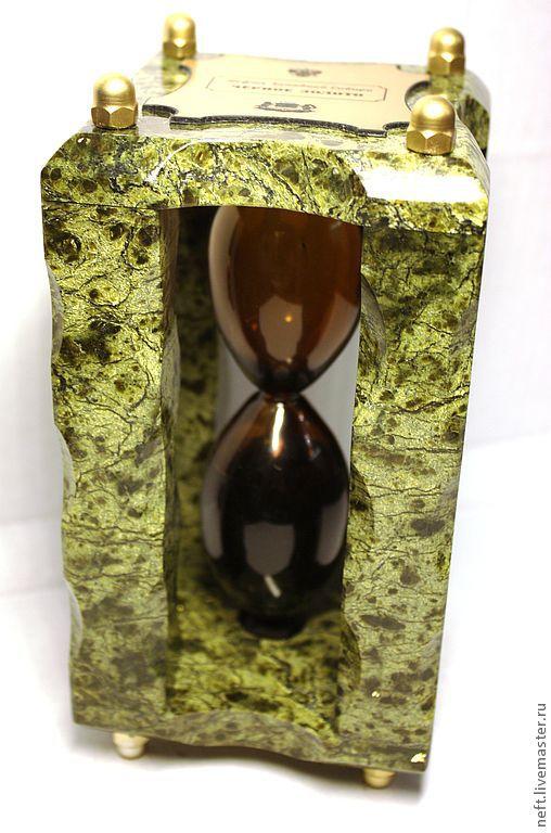 Подарки для мужчин, ручной работы. Ярмарка Мастеров - ручная работа. Купить Нефтяные часы (all stone). Handmade. Камень, подарок