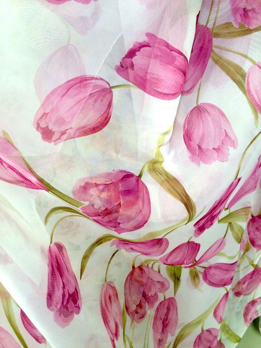 """Шитье ручной работы. Ярмарка Мастеров - ручная работа. Купить Вуаль """"Тюльпаны"""". Handmade. Шторы, готовые шторы, шторы на заказ"""