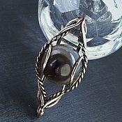 Украшения handmade. Livemaster - original item Ring: Ring with Eye of Glazkov agate is a protective amulet big ring. Handmade.