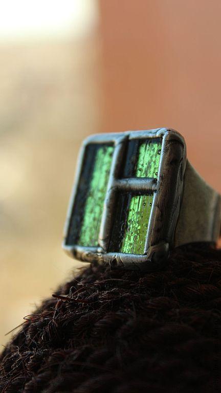 """Кольца ручной работы. Ярмарка Мастеров - ручная работа. Купить Кольцо """"Свет в окне"""" стекло.. Handmade. Окно, питерский подарок"""