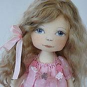 Куклы и игрушки ручной работы. Ярмарка Мастеров - ручная работа Девочка-гномочка в розовом. Handmade.