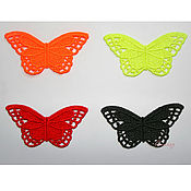 Материалы для творчества ручной работы. Ярмарка Мастеров - ручная работа вышивка аппликация Цветные бабочки кружево ажур FSL. Handmade.