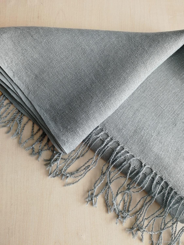 Handmade woven scarf linen, Scarves, Rubtsovsk,  Фото №1