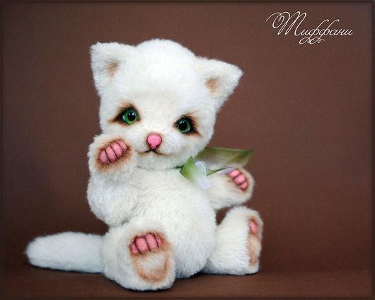 Мишки Тедди ручной работы. Ярмарка Мастеров - ручная работа. Купить кошечка Тиффани. Handmade. Кошечка, нежный, мягкая
