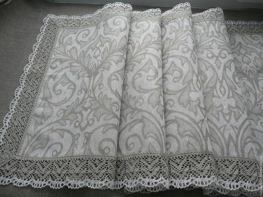 """Текстиль, ковры ручной работы. Ярмарка Мастеров - ручная работа. Купить Дорожка льняная """" Классика серого"""". Handmade. Серый"""