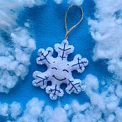 Подарки к праздникам handmade. Livemaster - original item Snowflake out of felt. Handmade.