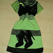 Одежда ручной работы. Ярмарка Мастеров - ручная работа Вязанное платье с воротником хомут. Handmade.