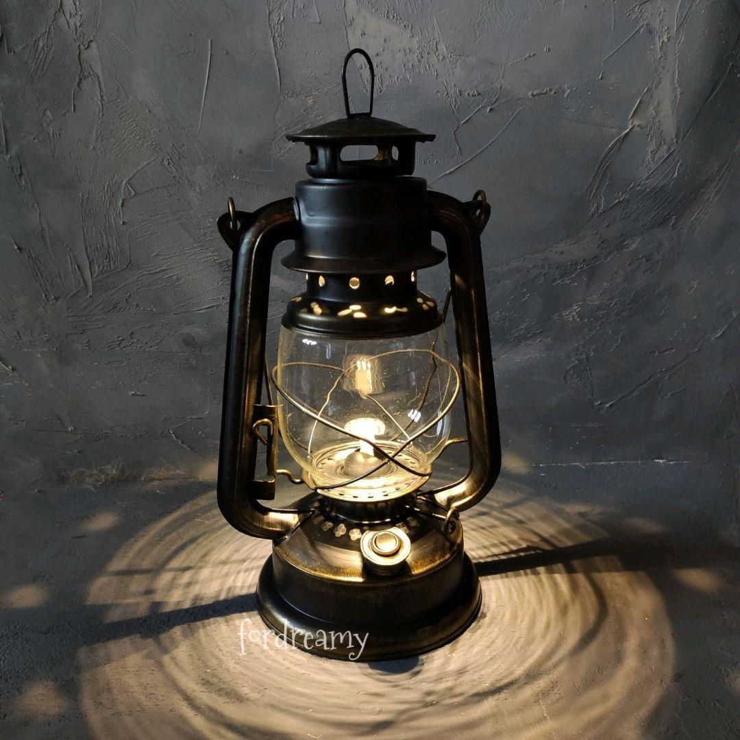 Kerosene Lamp Battery Powered Black For A Photo Shoot Or Home Kupit Na Yarmarke Masterov Gog33com Nastolnye Lampy Moscow