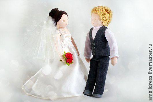 Вальдорфская игрушка ручной работы. Ярмарка Мастеров - ручная работа. Купить свадебные куклы. Handmade. Белый, вальдорфская кукла, шерсть