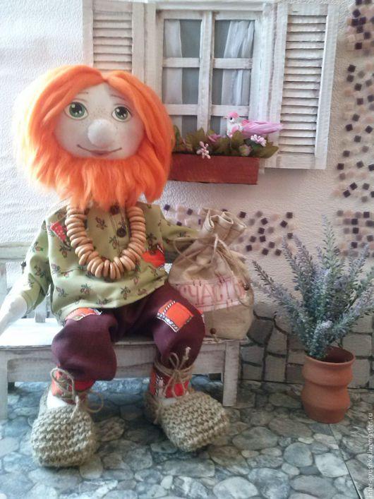 Народные куклы ручной работы. Ярмарка Мастеров - ручная работа. Купить Домовой Макарушка. Handmade. Рыжий, подарок мужчине, холофайбер