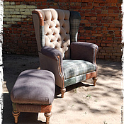 Для дома и интерьера ручной работы. Ярмарка Мастеров - ручная работа кресло для кабинета комплект. Handmade.