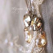 """Украшения ручной работы. Ярмарка Мастеров - ручная работа Серьги """"Golden  light"""" в винтажном стиле. Handmade."""