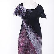 Платья ручной работы. Ярмарка Мастеров - ручная работа платье чернично-брусничное. Handmade.