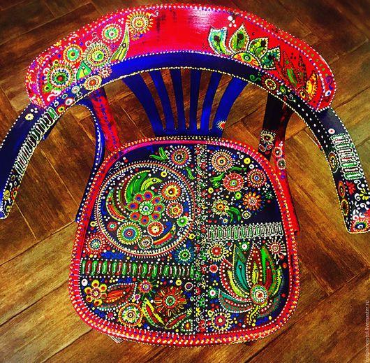 Мебель ручной работы. Ярмарка Мастеров - ручная работа. Купить Тропический. Handmade. Комбинированный, яркий, Ручная роспись по дереву