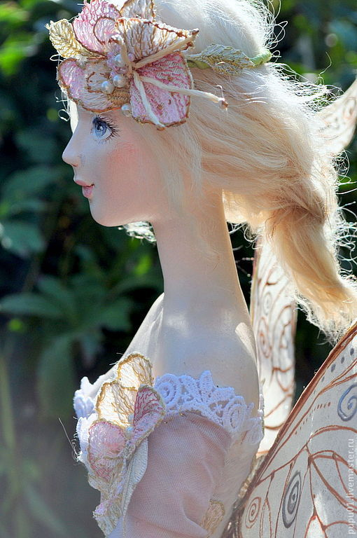 Коллекционные куклы ручной работы. Ярмарка Мастеров - ручная работа. Купить Коллекционная кукла Фея Лета. Handmade. Бледно-сиреневый
