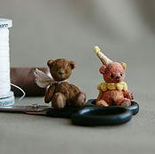 Куклы и игрушки ручной работы. Ярмарка Мастеров - ручная работа Микро мишки Бу и Ло. Handmade.