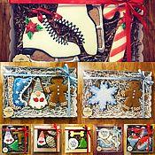 Подарки к праздникам ручной работы. Ярмарка Мастеров - ручная работа Пряники новогодние расписные, ручная работа. Handmade.