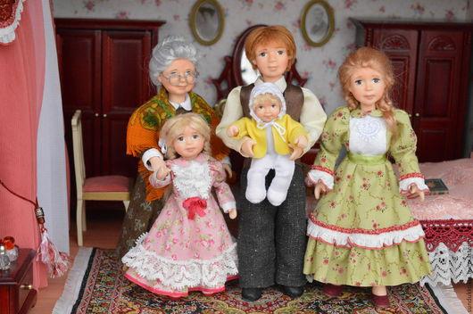 Коллекционные куклы ручной работы. Ярмарка Мастеров - ручная работа. Купить Куклы  миниатюрные  Семья. Handmade. Авторская кукла, подарок