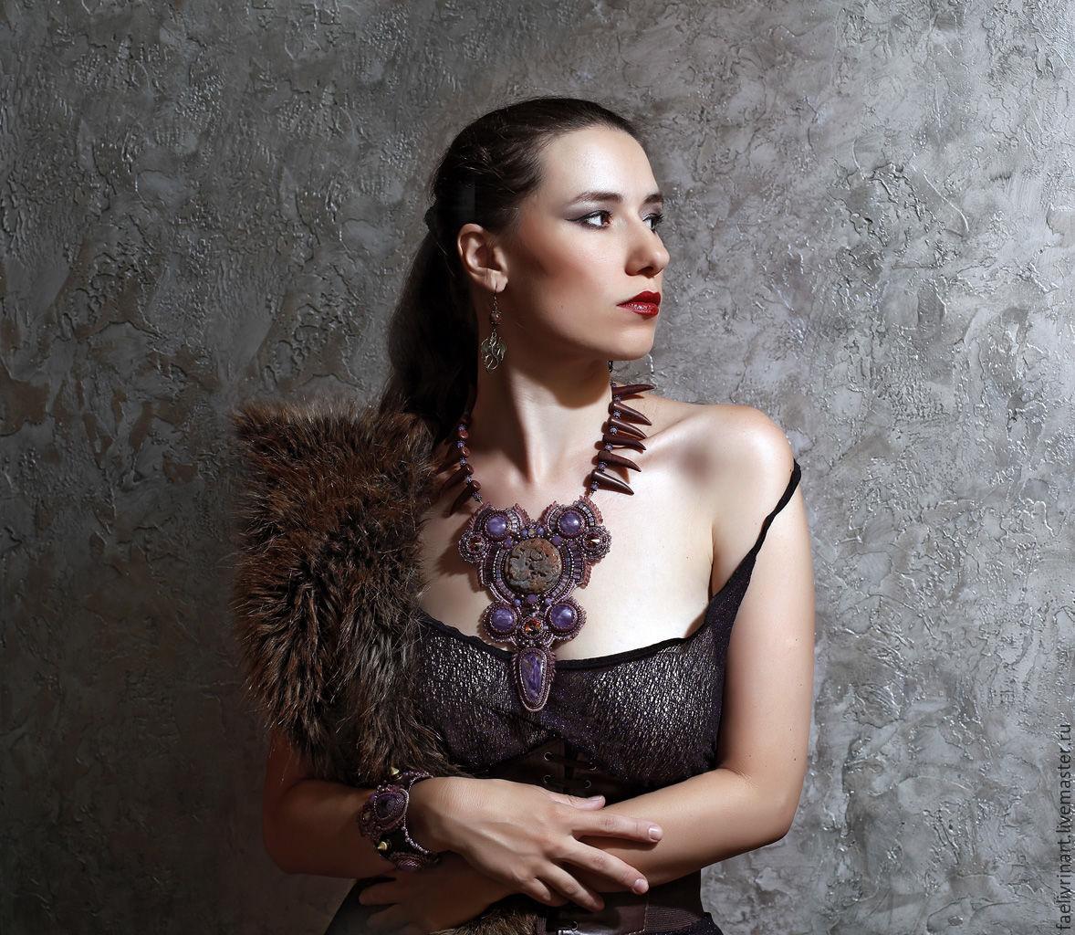 Jewelry set 'Dance with dragons' - necklace, bracelet, earrings, Jewelry Sets, Almaty,  Фото №1