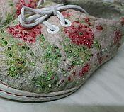 """Обувь ручной работы. Ярмарка Мастеров - ручная работа Туфли валяные летние """"Цветущий сад"""". Handmade."""